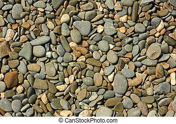 Beach pebble close up