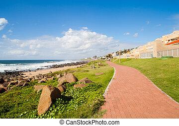 beach pedestrian walkway in Ballito, Durban north coast, South Africa