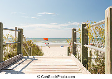 Beach - Typical summer day in Myrtle Beach.