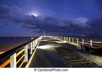 Beach Pier at Night