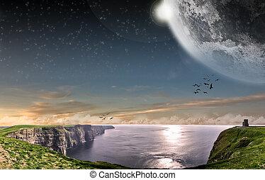 Beach planet landscape - Beautiful beach planet landscape...