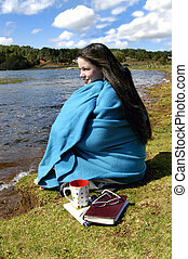 "Beach Quiet Time - Teen spends some ""alone time"" on the..."