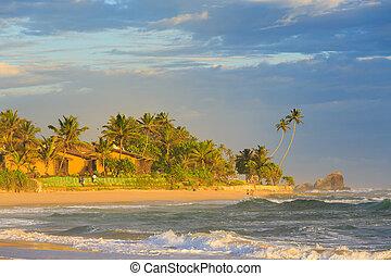 Beach resort at a tropical island