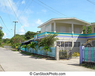 beach resort bequia typical local motel guest house -...
