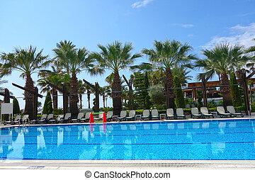 Beach resort hotel swimming pool