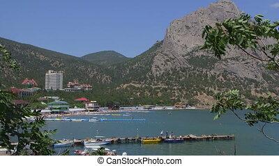 Beach resort Novy Svet view from rock