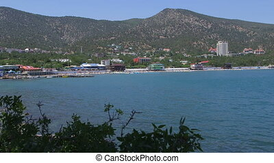 Beach resort Novyi Svit view from rock