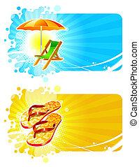 Beach & resorts vector frames