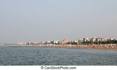 beach Rimini Italy summer season