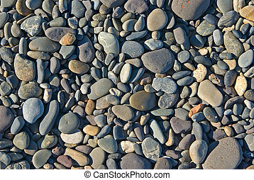 beach rocks - a pile of rocks or pebbles on the beach
