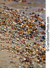 Beach rocks - Close up of rounded and polished beach rocks