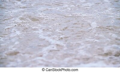 Beach rocks - Waves on beach rocks