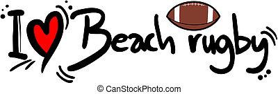 Beach rugby love
