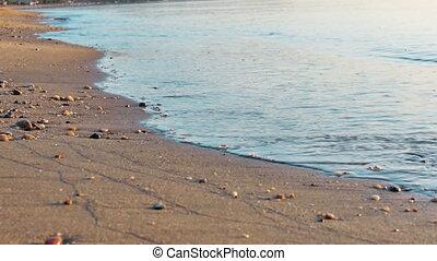 beach sand sea 4k