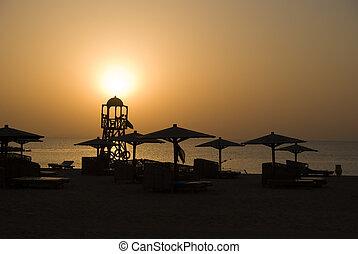 Beach sanset
