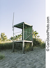 beach save rescue tower