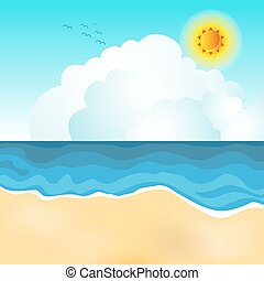 Beach Scene - An image of a beach scene.
