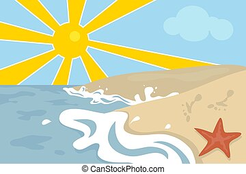 Beach Scene - Beach scene design.