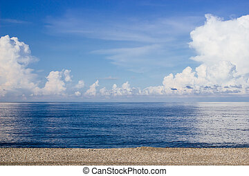 beach, sea and blue sky