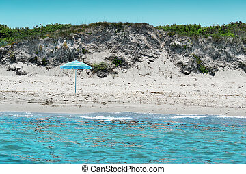 beach seen from the sea