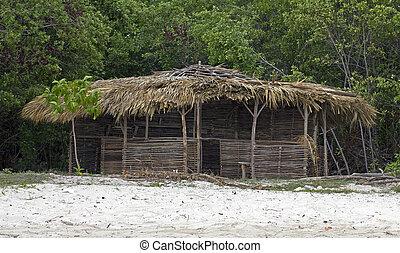 beach shack - old beach shack in jamaica