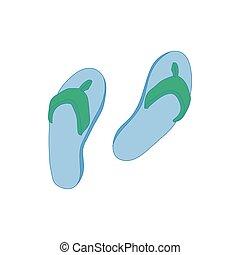 Beach shoes icon, cartoon style
