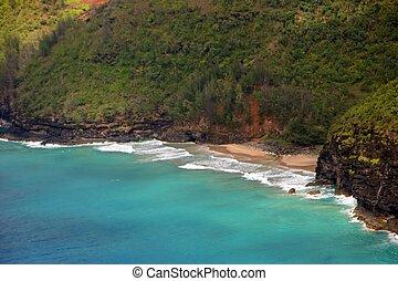 beach shoreline aerial