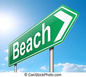 Beach sign.