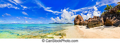 Beach Source d\'Argent at Seychelles