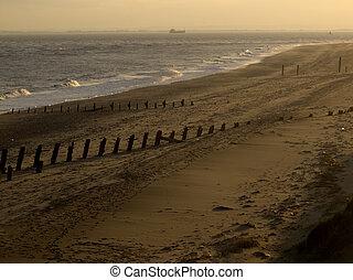 Beach, Spurn Point, East Yorkshire, November 2011