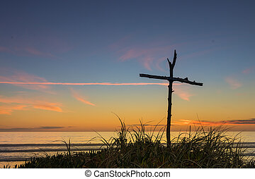 Beach Stick Cross