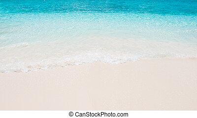 Beach - Beautiful sea wave on the beach