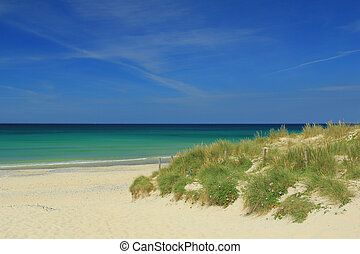 Beach at Tronoen, Finistere, Brittany, France
