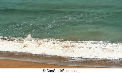 beach storm in sea