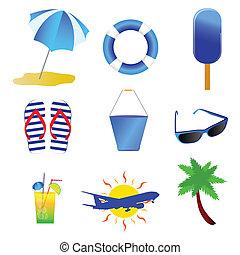 beach stuff vector