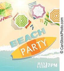 Beach Summer Party Poster Vector Illustration