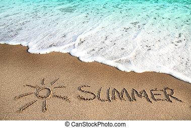 Beach, sun and summer ,sea wave