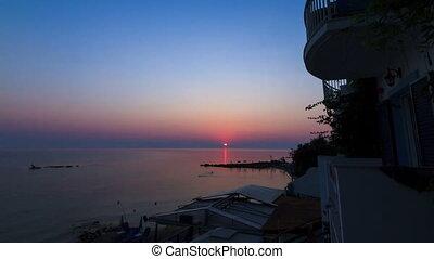 Beach sunrise timelapse