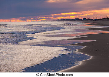 Beach Sunset Outer Banks OBX North Carolina USA - OBX Outer...