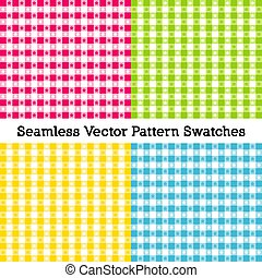 Beach Tablecloth Patterns, four seamless swatches