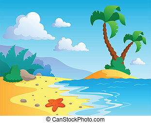 Beach theme scenery 1