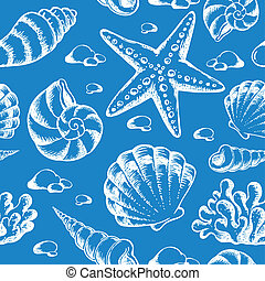 Beach theme seamless background 2
