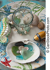 Beach Theme Still Life - This is a beach theme still life of...