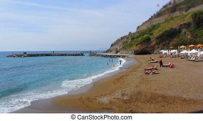 Beach time lapse in Turkey resort