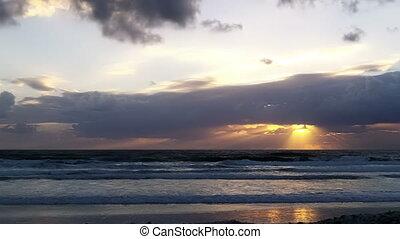 Beach Time Lapse Sun Rise