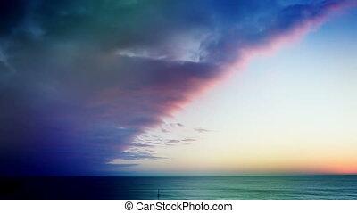 Beach time lapse unique colors