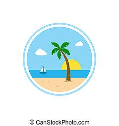 beach time tropical island summer vacation