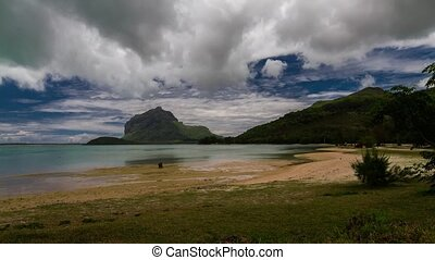 Beach Timelapse At Le Morne Maurice - Timelapse showing...