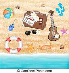 beach travel object on a sea sand beach
