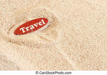 Beach travel on sand